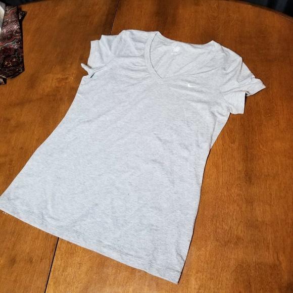 Nike Other - B38 NIKE The Athletic V-Neck T-Shirt Gray Men's L
